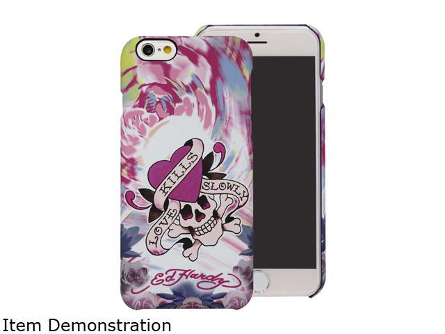 Choicee Love Kills Slowly Flower Pink Ed Hardy iPhone 6 Case EHIP61141