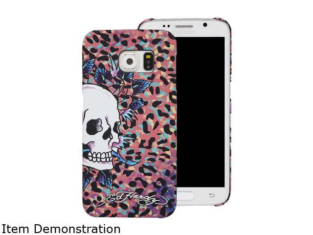 Choicee Pink Skull Ed Hardy S6 Edge Skull Color Leopard Pink EHSS61611