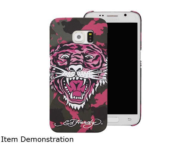 Choicee Pink Tiger Ed Hardy S6 Edge Tiger Camouflage Pink EHSS61631