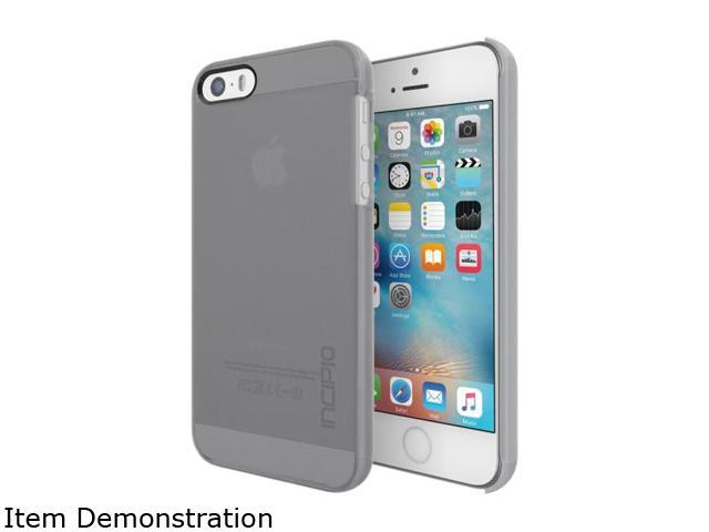 Incipio Feather Pure Gray Ultra-thin Clear Snap-on Case for iPhone SE / 5 / 5S IPH-1436-GRY