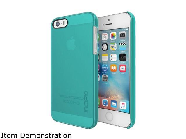 Incipio Feather Pure Turquoise Ultra-thin Clear Snap-on Case for iPhone SE / 5 / 5S IPH-1436-TUR