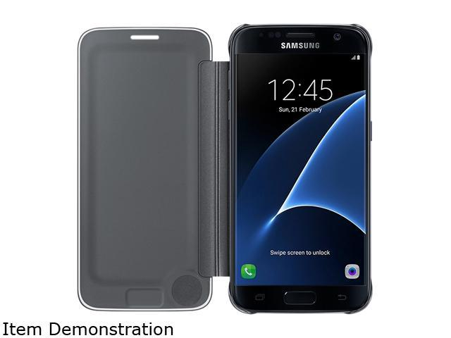 Samsung Galaxy S7 Edge S-View Cover Clear Black - EF-ZG935CBEGUS