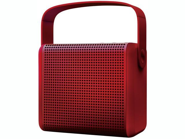 MiPow BTS-1000-RD Red BOOMAX powerful 12 hours play time portable wireless Bluetooth v4 Speaker with built-in speakerphone