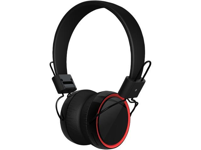 SoundBot SB270 Black/Red Foldable Noise Cancelling Bluetooth Stereo Headset