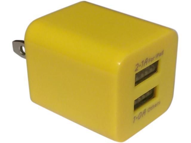 Xfactor TWALLXF2ADUALYW Yellow Power Cube - 2.1 Amp & 1 Amp Dual USB Ports