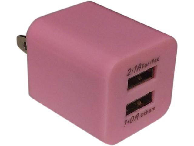 Xfactor TWALLXF2ADUALPK Pink Power Cube - 2.1 Amp & 1 Amp Dual USB Ports