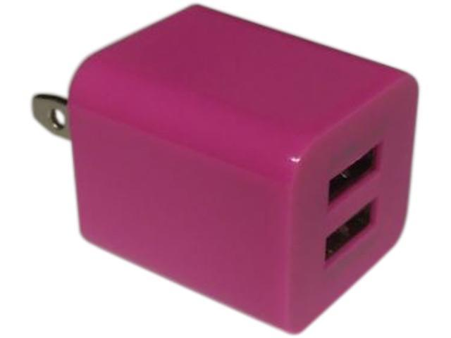 Xfactor TWALLXF2ADUALHP Hot Pink Power Cube - 2.1 Amp & 1 Amp Dual USB Ports