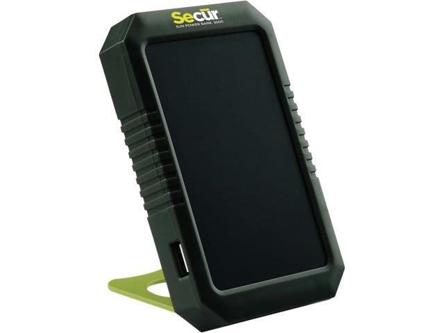 Secur Products Black/Yellow 3000 mAh Solar Power Bank 3000 SP-3009