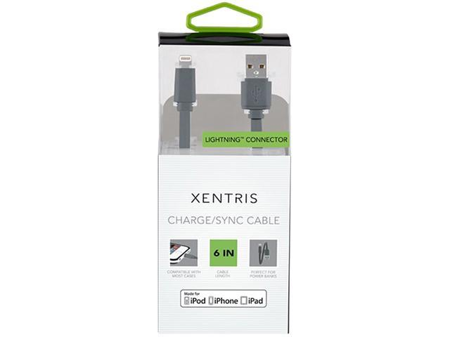 XENTRIS 39-0670-05-XP Gray Charge/Sync Lightning to USB Cable
