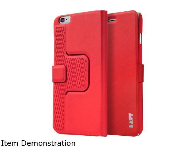 LAUT Revolve Red Folio Case for iPhone 6 Plus and 6S Plus LAUT_iP6P_RV_R