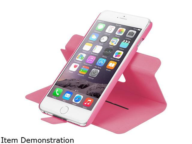 LAUT Pink Revolve Folio Case for Apple iPhone 6 Plus and 6s Plus LAUT_iP6P_RV_P
