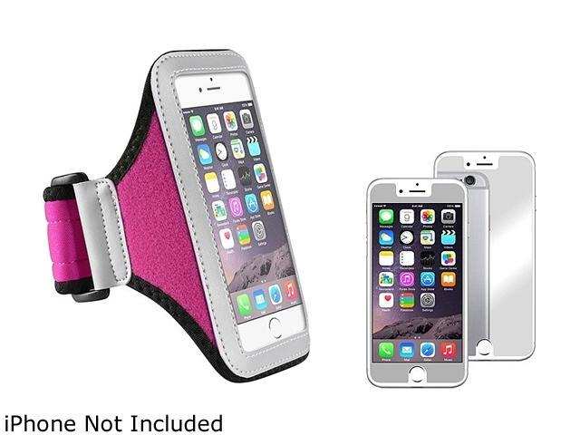 1X Sportband compatible with Apple iPhone 6 4.7, Silver/Pink