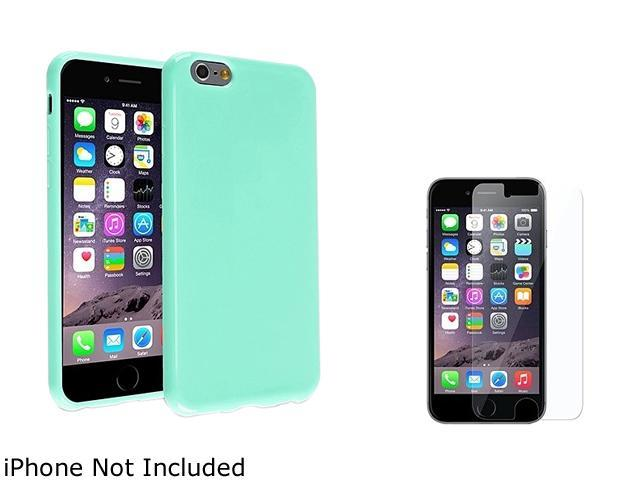 1X TPU Case compatible with Apple iPhone 6 Plus 5.5, Mint Green Jelly Note: Compatible with Apple iPhone 6 Plus only Keep your cell phone protected in style with this TPU rubber skin case accessory