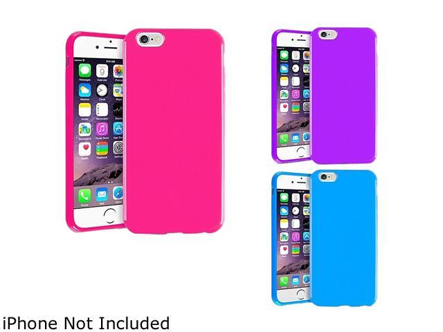 1X TPU Case compatible with Apple iPhone 6 4.7, Hot Pink Jelly