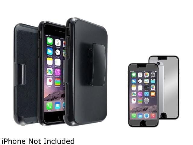1X Hybird Case with Stand compatible with Apple iPhone 6 Plus 5.5, Black Skin/ Black Hard Note: Only compatible with Apple iPhone 6 Plus Keep your cell phone protected in style with this dual-layered