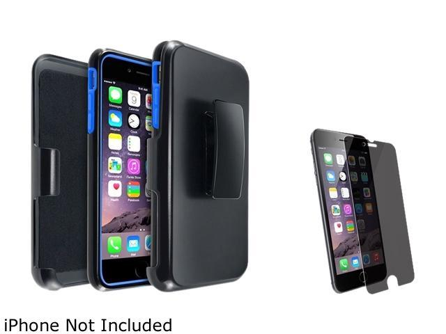 1X Hybird Case with Stand compatible with Apple iPhone 6 Plus 5.5, Blue/Black Note: Only compatible with Apple iPhone 6 Plus Keep your cell phone protected in style with this dual-layered protective