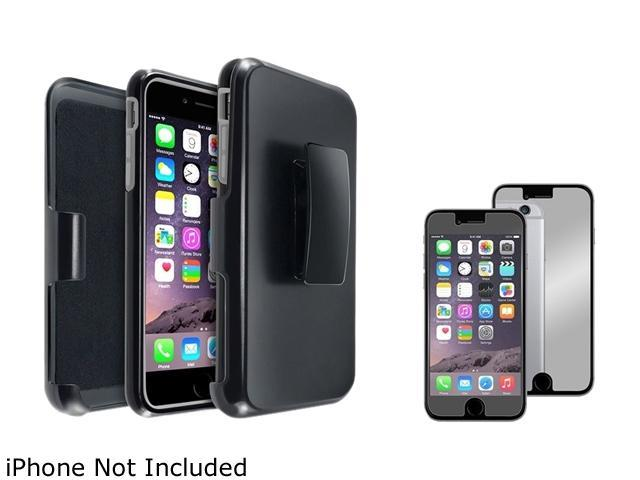 1X Hybird Case with Stand compatible with Apple iPhone 6 Plus 5.5, Gray Skin/ Black Hard Note: Only compatible with Apple iPhone 6 Plus Keep your cell phone protected in style with this dual-layered