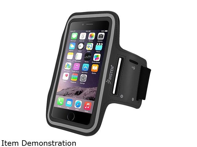 Insten Black Sportband with built-in Key Holder For Apple iPhone 6 Plus (5.5-inch) 2036826