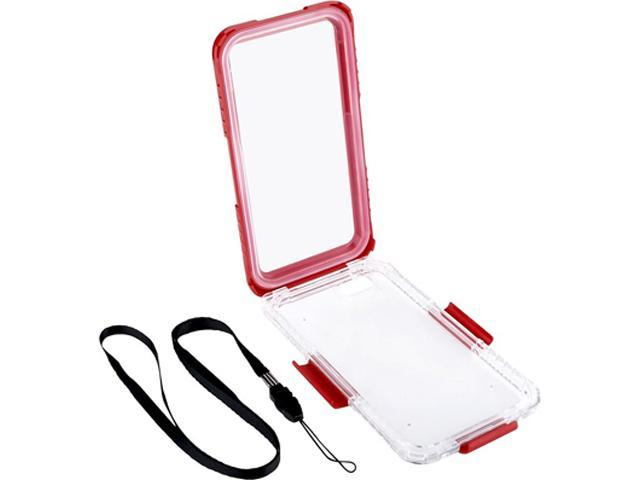 Insten Clear/Red Waterproof Hard Plastic Snap-in Case Cover For Apple iPhone 6 Plus 2062489