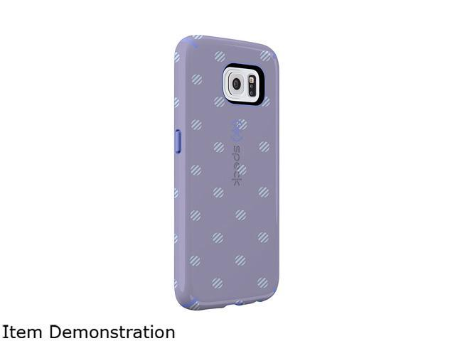 Speck Products CandyShell Inked Stripe Polka Heather/Wisteria Purple Case for Samsung Galaxy S6 SPK-A3869