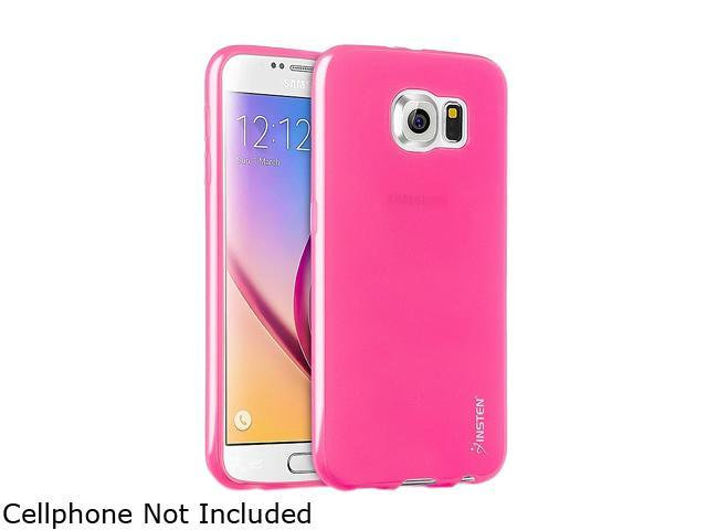 Insten Hot Pink Frosted TPU Rubber Candy Skin Case for Samsung Galaxy S6 2076384