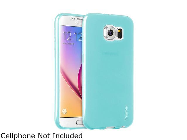 Insten Sky Blue Frosted TPU Rubber Candy Skin Case for Samsung Galaxy S6 2076386