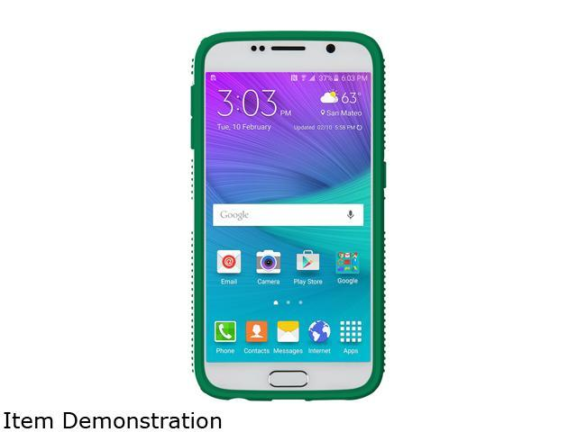 Speck Products CandyShell Grip Charcoal Grey/Dragon Green Samsung Galaxy S6 Case SPK-A3880