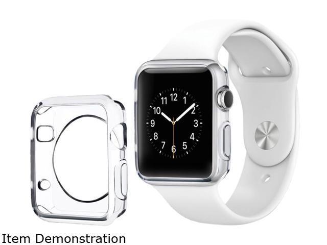 Insten Clear TPU Rubber Skin Gel Bumper Frame Case For Apple Watch iWatch 42mm 2102587
