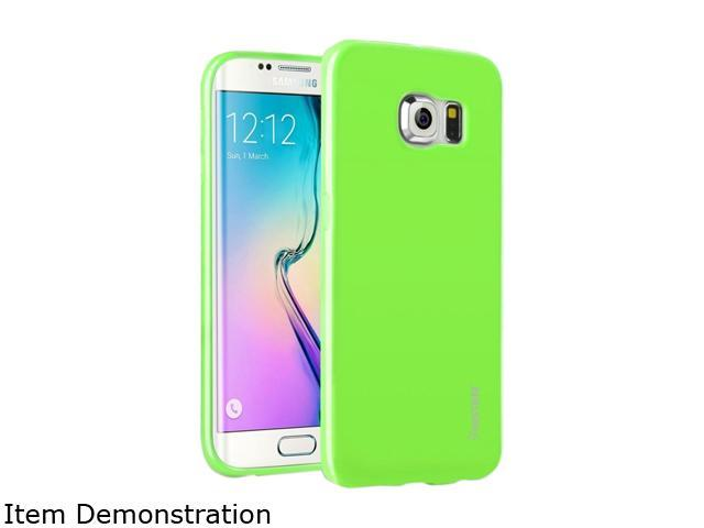 Insten Green Jelly TPU Rubber Skin Gel Back Shell Case For Samsung Galaxy S6 Edge 2105849
