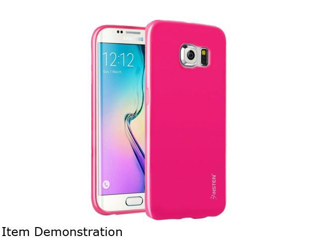 Insten Hot Pink Jelly TPU Rubber Skin Gel Back Shell Case For Samsung Galaxy S6 Edge 2105850