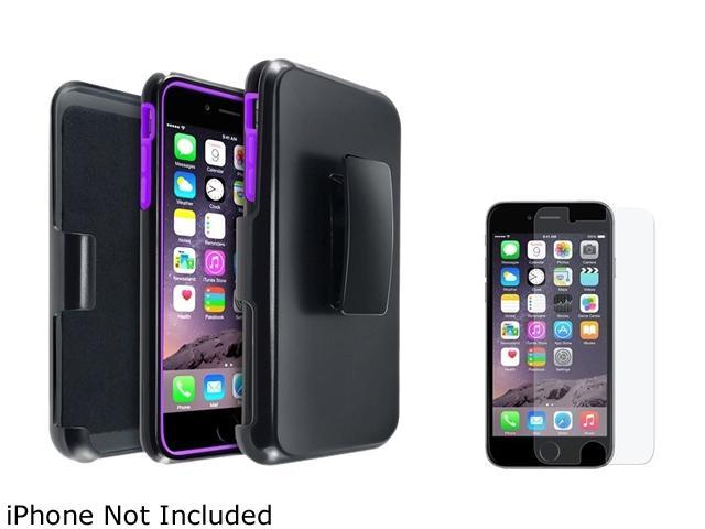 1X Hybird Case with Stand compatible with Apple iPhone 6 Plus 5.5, Purple/Black Note: Only compatible with Apple iPhone 6 Plus Keep your cell phone protected in style with this dual-layered protective