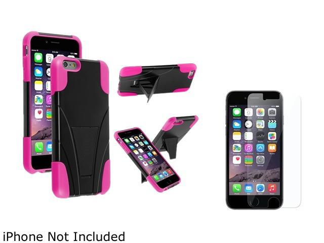 1X T-Stand Cover Case compatible with Apple iPhone 6 Plus 5.5, Black/Hot Pink Note: Only compatible with Apple iPhone 6 Plus Give your device an extra edge by using this product