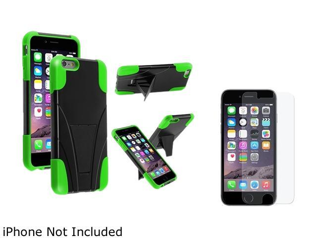 1X T-Stand Cover Case compatible with Apple iPhone 6 Plus 5.5 , Black/Neon Green Note: Only compatible with Apple iPhone 6 Plus Give your device an extra edge by using this product