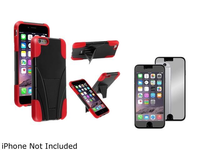1X T-Stand Cover Case compatible with Apple iPhone 6 Plus 5.5, Black/Red Note: Only compatible with Apple iPhone 6 Plus Give your device an extra edge by using this product