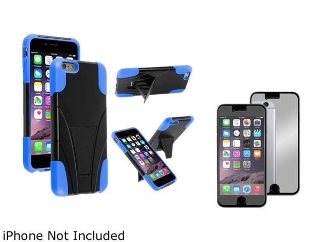 1X T-Stand Cover Case compatible with Apple iPhone 6 Plus 5.5, Black/Sky Blue Note: Only compatible with Apple iPhone 6 Plus Give your device an extra edge by using this product