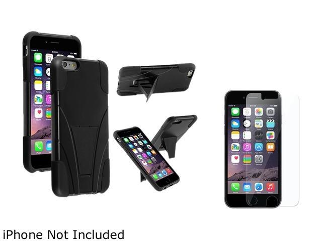 1X T-Stand Cover Case compatible with Apple iPhone 6 Plus 5.5, Black/Black Note: Only compatible with Apple iPhone 6 Plus Give your device an extra edge by using this product