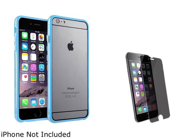 1X TPU Bumper with Aluminum Button compatible with Apple iPhone 6 Plus (5.5