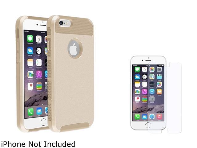 1X Hybrid Case compatible with Apple iPhone 6 4.7, Gold TPU/Gold Hard