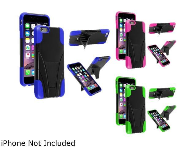 1X T-Stand Cover Case compatible with Apple iPhone 6 Plus 5.5, Black/Blue Note: Only compatible with Apple iPhone 6 Plus Give your device an extra edge by using this product