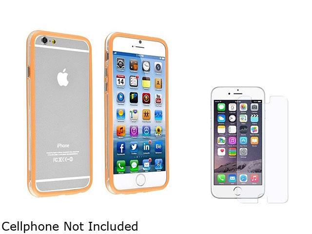 1X TPU Bumper with Aluminum Button compatible with Apple iPhone 6 4.7, Clear/Orange Note: NOT compatible with Apple iPhone 6 Plus Keep your Apple iPhone safe and protected in style with this Bumper TP