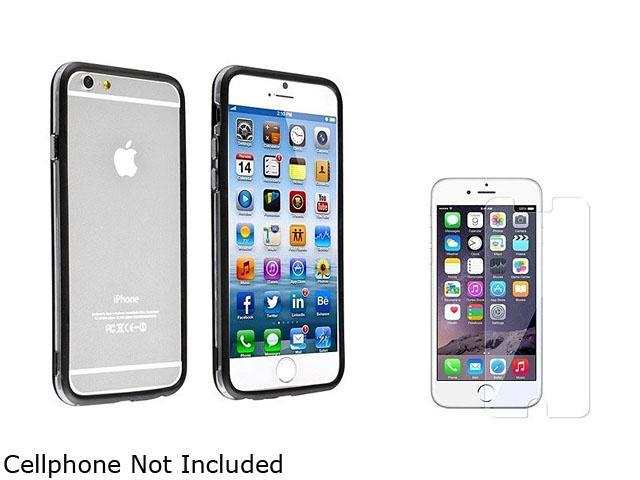 1X TPU Bumper with Aluminum Button compatible with Apple iPhone 6 4.7, Clear/Black Note: NOT compatible with Apple iPhone 6 Plus Keep your Apple iPhone safe and protected in style with this Bumper TPU