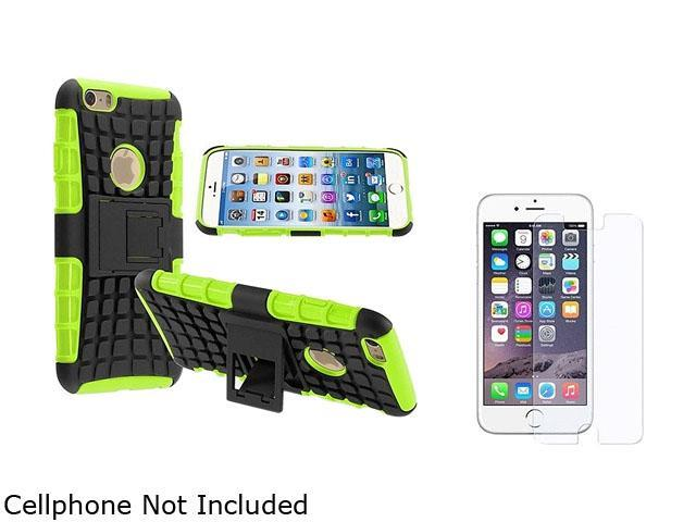 1X Hybrid Case compatible with Apple iPhone 6 4.7, Green TPU/Black Hard Note: NOT compatible with Apple iPhone 6 Plus Keep your cell phone protected in style with this dual-layered protectivessor