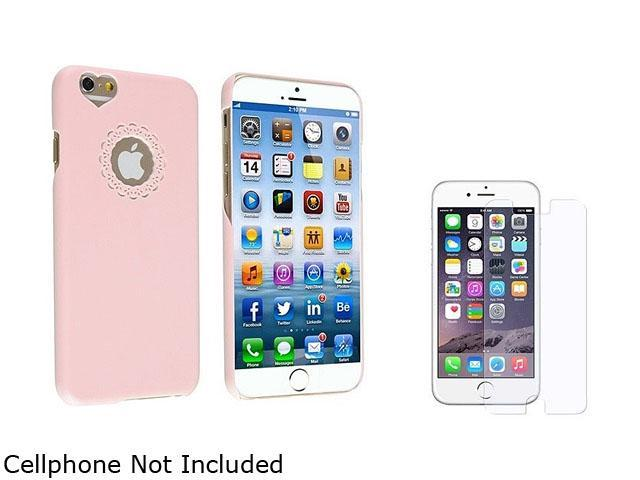 1X Snap-in Case compatible with Apple iPhone 6 4.7, Light Pink Sweet Heart Rear Note: NOT compatible with Apple iPhone 6 Plus Protect your cell phone against dust and scratches