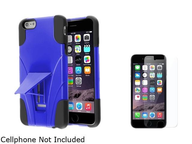 Insten Black / Blue With Stand Hybrid Case Cover + Clear Screen Protector for Apple iPhone 6 Plus 5.5