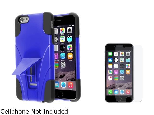 Insten Black / Blue With Stand Hybrid Case Cover + Anti-Glare Matte Screen Protector for Apple iPhone 6 Plus 5.5