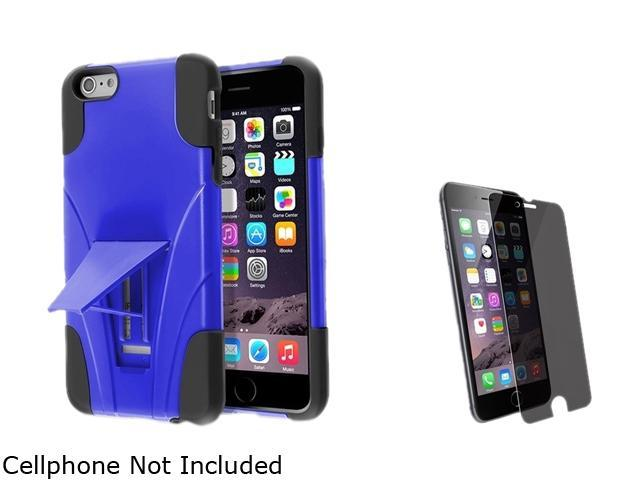 Insten Black / Blue With Stand Hybrid Case Cover + Privacy Screen Protector for Apple iPhone 6 Plus 5.5