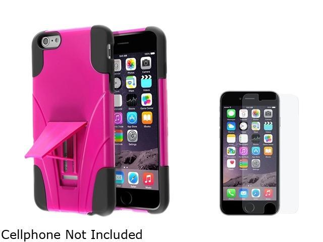Insten Black  / Hot Pink With Stand Hybrid Case Cover + Anti-Glare Matte Screen Protector for Apple iPhone 6 Plus 5.5