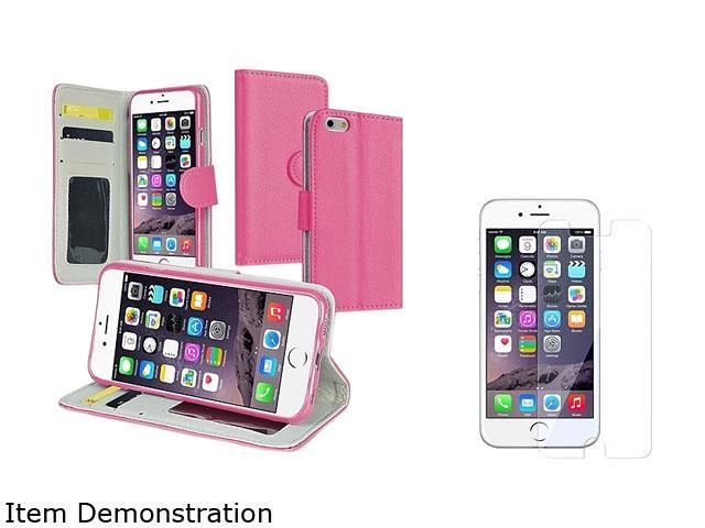 1X Stand Wallet Leather Case with Card Slot compatible with Apple iPhone 6 4.7,Hot Pink Note: NOT compatible with Apple iPhone 6 Plus Stop worrying about scratching your Apple iPhone by slipping it in