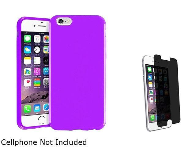 1X TPU Case compatible with Apple iPhone 6 4.7, Purple Jelly Note: NOT compatible with Apple iPhone 6 Plus Keep your cell phone protected in style with this TPU rubber skin case accessoryo