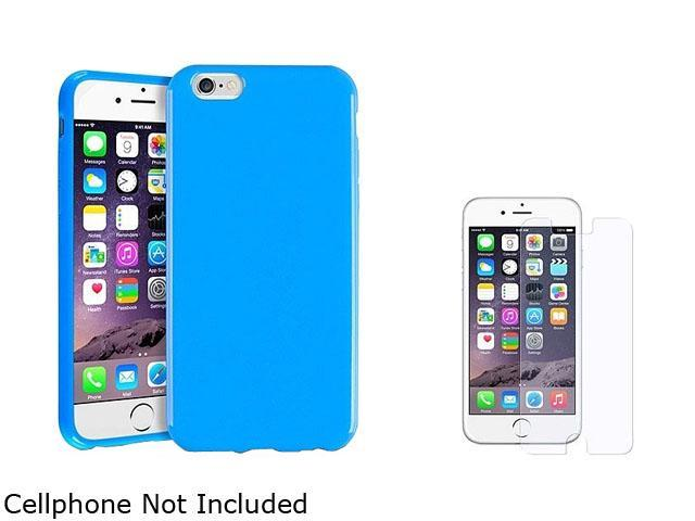 1X TPU Case compatible with Apple iPhone 6 4.7, Blue Jelly